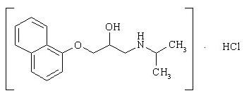 Химическа формула на Propranolol