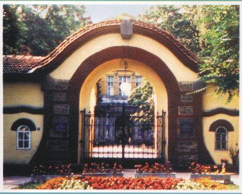 желязна врата под формата на арка